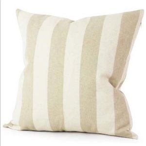 Striped Linen Pillow Cover